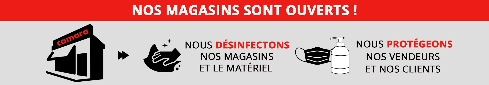 Reouverture magasin