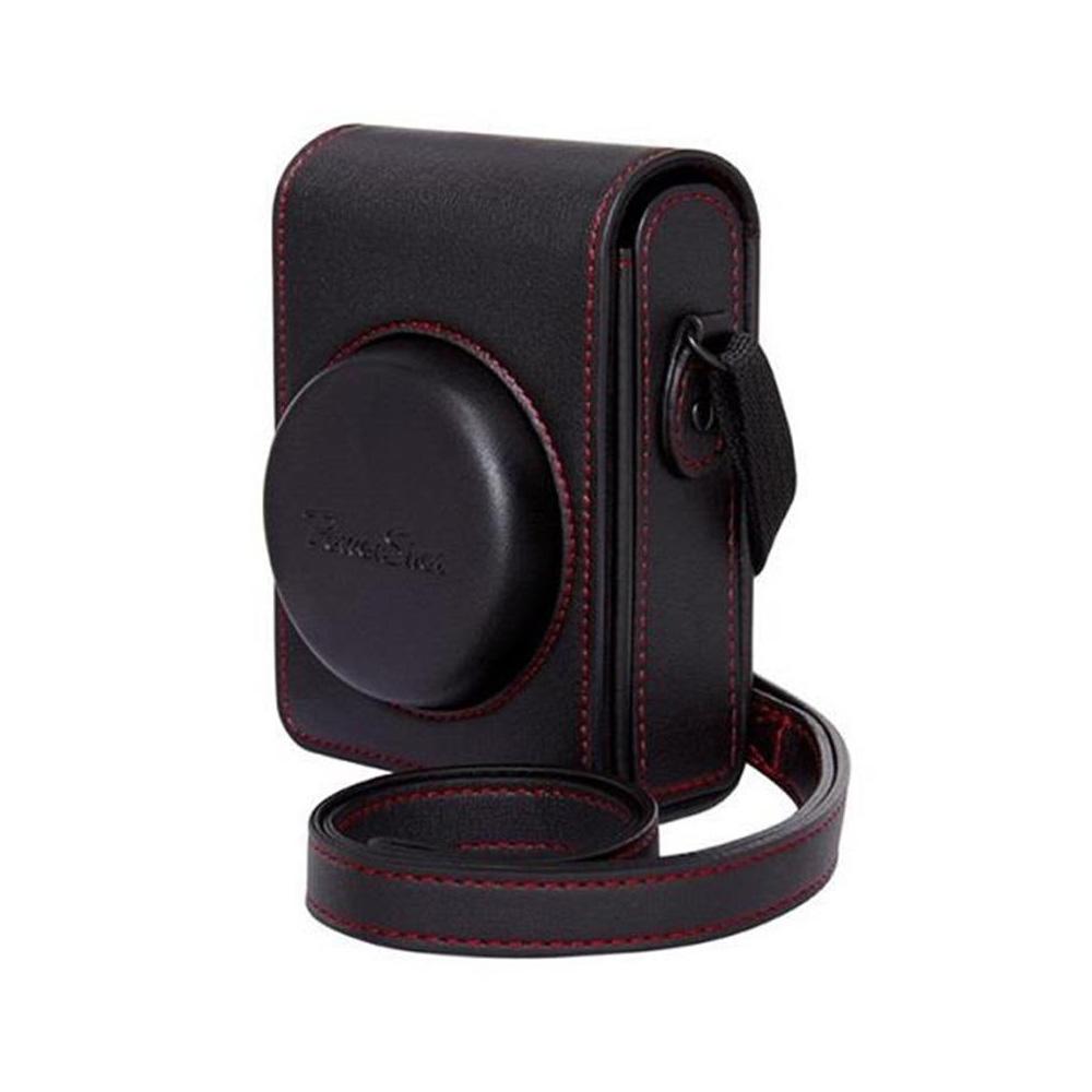 canon dcc 1880 etui cuir noir pour g7x mark ii. Black Bedroom Furniture Sets. Home Design Ideas
