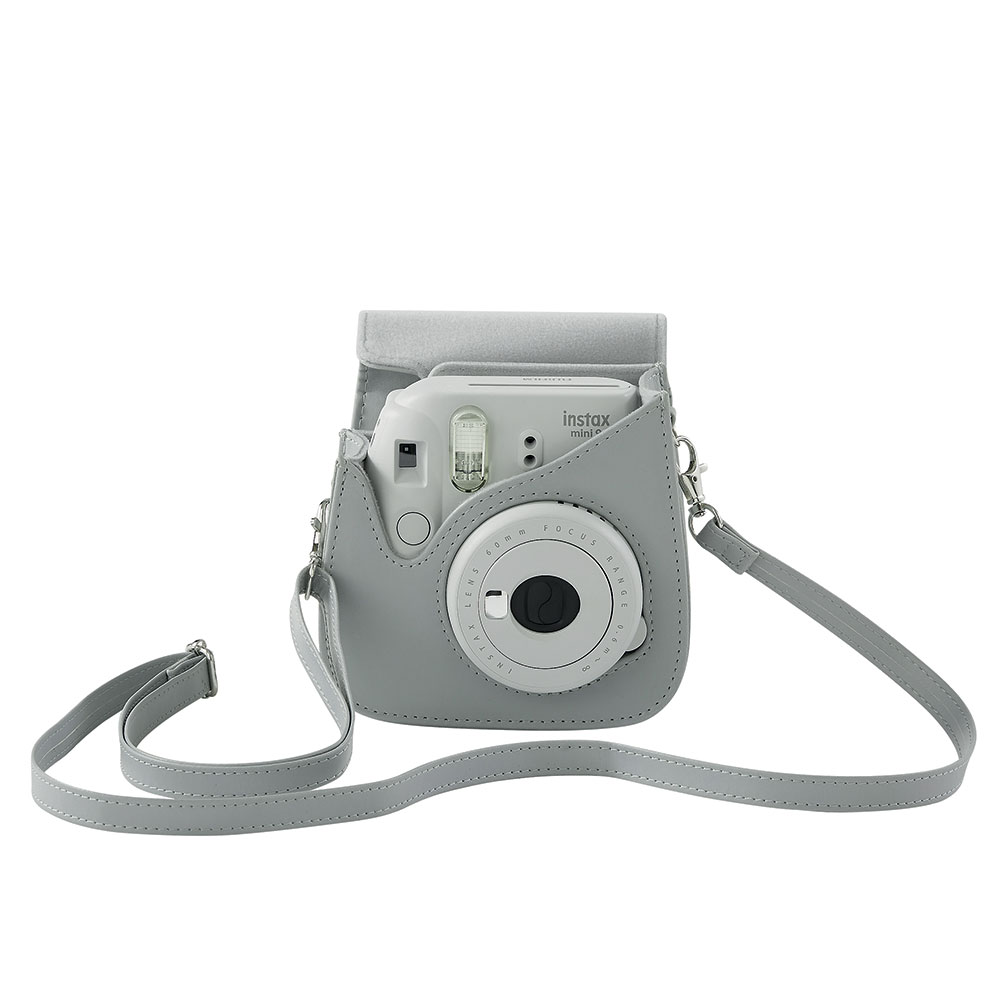 Fujifilm housse instax mini 9 blanc cendr for Housse instax mini 9
